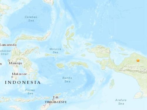 【蜗牛棋牌】印尼巴布亚省发生4.9级地震 震源深度10千米