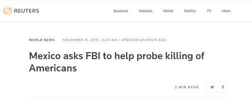 【蜗牛棋牌】墨西哥邀FBI协助调查9人遇害案 令其不得配备武器