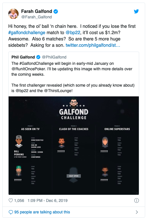 【蜗牛棋牌】Bill Perkins挑战Phil Galfond发起的PLO一对一挑战赛