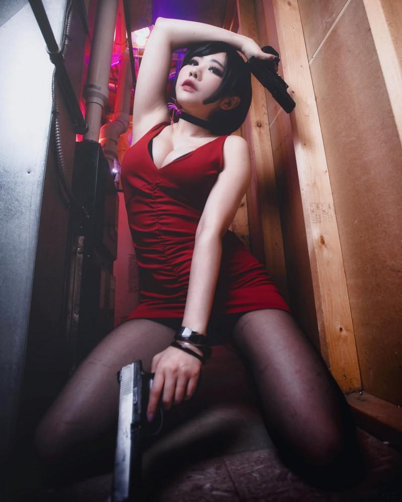 【蜗牛棋牌】巨乳美女vivid_vision 美式Coser角色扮演风格大胆