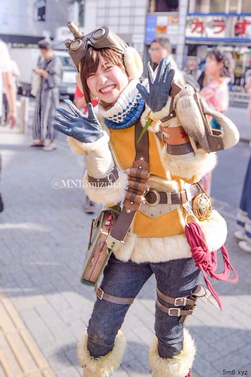 【蜗牛棋牌】长谷川とわ代言《魔物猎人》AIBO 穿冰狼套装毫无违和