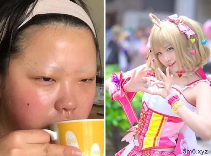 【蜗牛棋牌】日本Coser生活照 本人照片与扮演角色反差太大